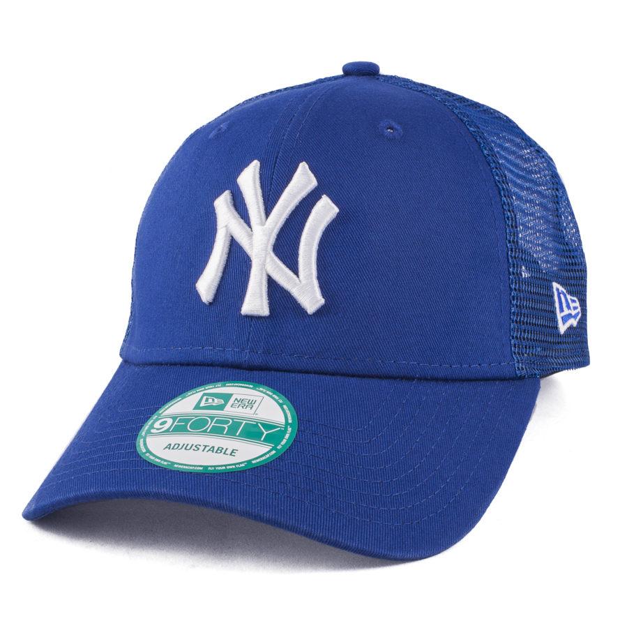 Синяя кепка с сеткой NY