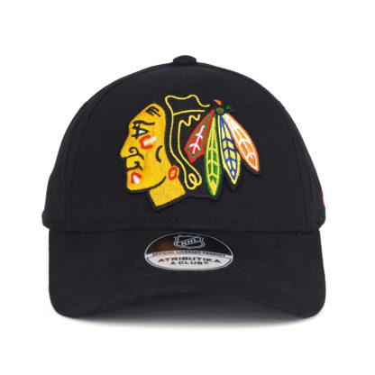 Подростковая-Бейсболка-NHL-Chicago-Blackhawks-черная-atibutika-and-club-31138