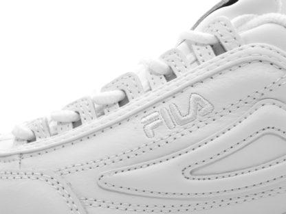 Женские белые кроссовки FILA DIsraptor II