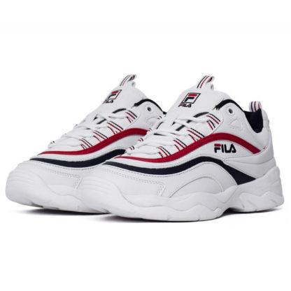 Женские белые кроссовки FILA Ray White