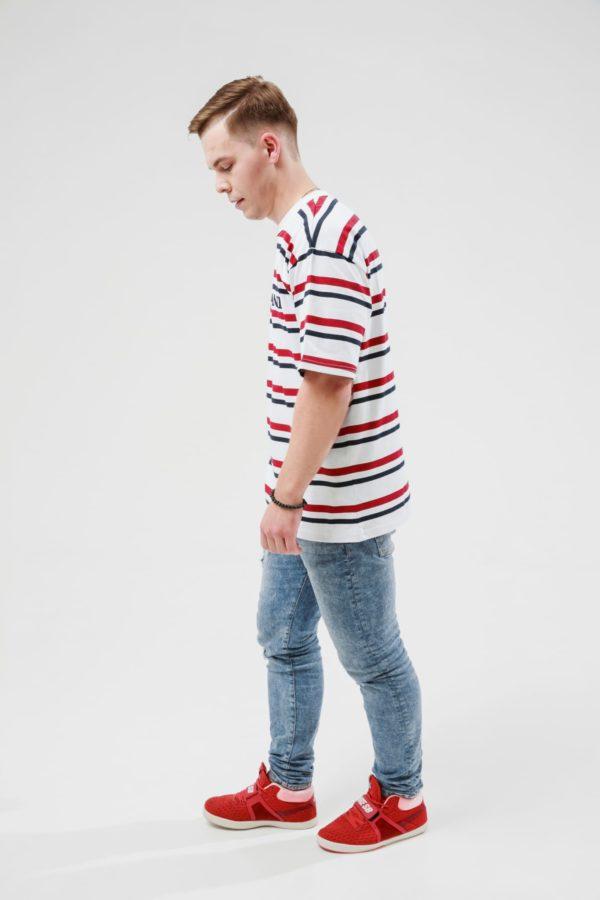 Мужская футболка KARL KANI STRIPED TEE