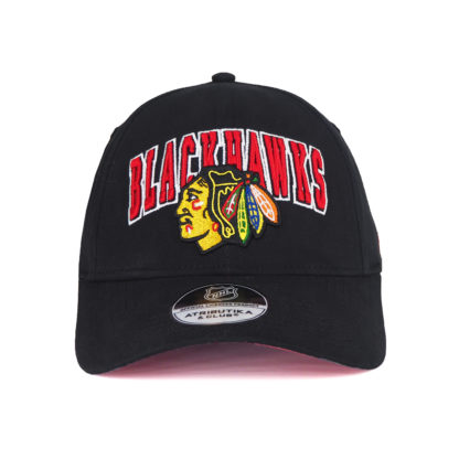31157-Бейсболка-NHL-Chicago-Blackhawks-черная-atributika