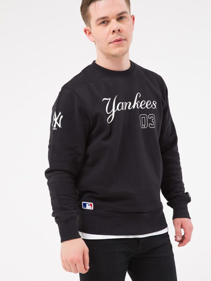 Мужская толстовка NEW ERA TEAM SCRIPT CREW MLB NY YANKEES
